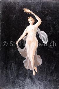 Frauenfigur im Stil der pompeianischen Wandmalereien