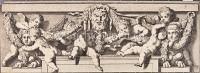 Kunst Allegorie Wilde mit Satyr und Sphinxen