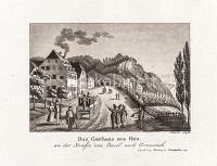 Das Gasthaus zum Horn an der Strasse von Basel nach Grenzach