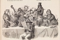Dorfmusiker an einem Tisch