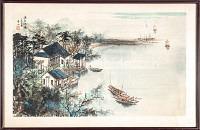 China Schiffe auf einem Fluss