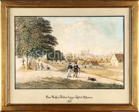 Basel Aeschen Bollwerk gegen Spital Scheuern 1860