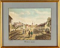 Basel  Kleinbasel Bläsistrasse heute Klybeckstrasse einwärts