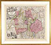 Schweiz Karte des helvetischen Gebietes